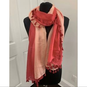 Calypso St. Barth for Target Pink Tassel Scarf